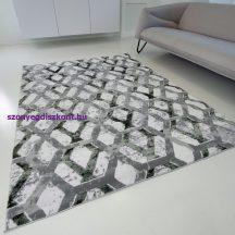 Modern szőnyeg akció, ZARIF 9960 szürke-zöld 80x150cm