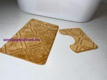 Fürdőszobai szőnyeg 2 részes - mustár