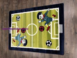 Futballpályás 133x180cm 717 kék/zöld gyerek szőnyeg