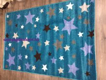 Sima 150x230cm kék csillagos szőnyeg