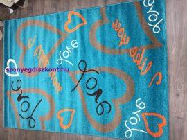 Sima 150x230cm kék love szőnyeg