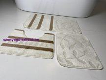 Fürdőszobai szőnyeg 3 részes -krém kis leveles
