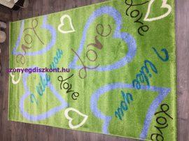 Sima 150x230cm zöld love szőnyeg