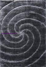 Shaggy Szőnyeg, Ber Softy 3D 2243 140X190Cm Fekete-Fehér Szállal Szőnyeg