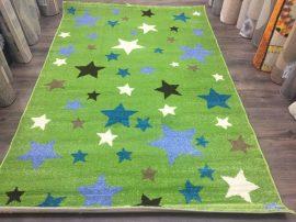Sima 150x230cm zöld csillagos szőnyeg