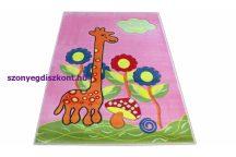 Dy Kids 02 150X200Cm Rózsaszín Zsiráfos  Gyerekszőnyeg