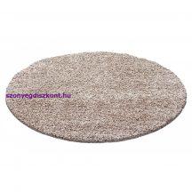 Ay life 1500 bézs 120cm egyszínű kör shaggy szőnyeg