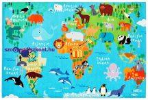 Gyerekszőnyeg 80X120Cm Ob My Torino Kids 233 World Map Szőnyeg