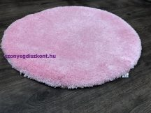 Szuper Puha Kör Szőnyeg 100Cm Rózsaszín