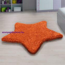 Ay star narancs 160x160cm csillag formás shaggy szőnyeg
