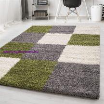 Ay life 1501 zöld 160x230cm - kockás shaggy szőnyeg