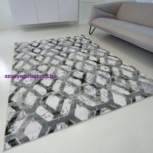 Modern szőnyeg akció, ZARIF 9960 szürke-zöld 120x170cm
