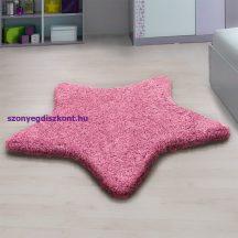Ay star rózsaszín 160x160cm csillag formás shaggy szőnyeg