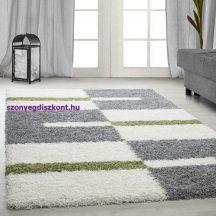Ay gala 2505 zöld 100x200cm - shaggy szőnyeg akció