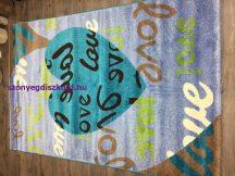 Sima 150x230cm nagy szív light kék love szőnyeg