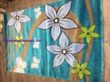 Sima 150x230cm nagy virágos kék gyerek szőnyeg