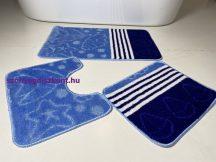 Fürdőszobai szőnyeg 3 részes - kék csillag
