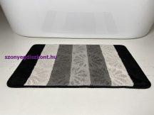Fürdőszobai szőnyeg 1 részes - fekete virág
