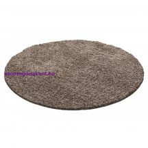 Ay life 1500 mokka 160cm egyszínű kör shaggy szőnyeg