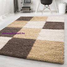 Ay life 1501 mokka 200x290cm - kockás shaggy szőnyeg