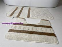Fürdőszobai szőnyeg 2 részes - krém kis leveles