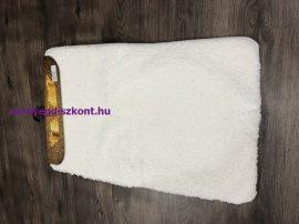 Fürdőszobai szőnyeg Sebano nagyon puha 2 rèszes 50x80cm egyszínű fehér