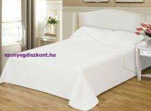 Ágytakaró Clara fehér csíkos 235x250cm