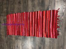 Rongyszőnyeg 60X120Cm A Piros Szőnyeg