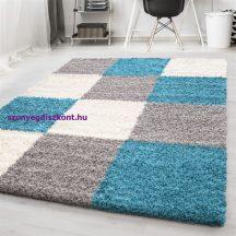 Ay life 1501 türkiz 120x170cm - kockás shaggy szőnyeg
