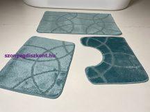 Fürdőszobai szőnyeg 3 részes - zöld