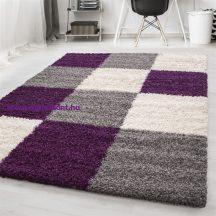 Ay life 1501 lila 160x230cm - kockás shaggy szőnyeg