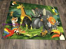 Játszószőnyeg állatos 133x180cm -hátoldala gumis