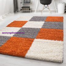 Ay life 1501 terra 200x290cm - kockás shaggy szőnyeg