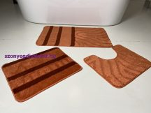 Fürdőszobai szőnyeg 3 részes - tégla