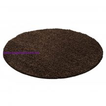 Ay life 1500 barna 80cm egyszínű kör shaggy szőnyeg