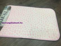 Fürdőszobai szőnyeg 2 rèszes (szivacsos)!50x80cm rózsaszín