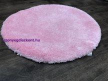 Szuper Puha Kör Szőnyeg 80Cm Rózsaszín