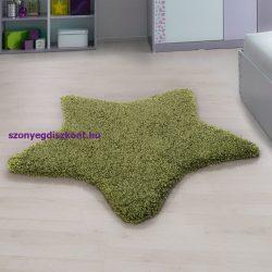 Ay star zöld 130x130cm csillag formás shaggy szőnyeg