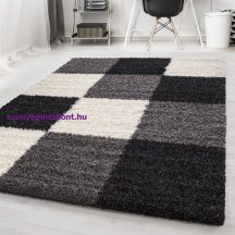 Ay life 1501 fekete 200x290cm - kockás shaggy szőnyeg