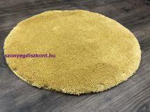 Szuper Puha Kör Szőnyeg 100Cm Mustár