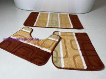 Fürdőszobai szőnyeg 3 részes -terra kockás