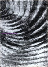 Hosszú Szálú, Ber Seher 3D 2872 80X150Cm Fekete-Szürke Szőnyeg