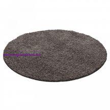 Ay life 1500 taupe 80cm egyszínű kör shaggy szőnyeg