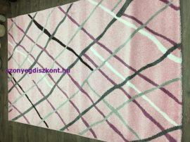 Sima 150x230cm rózsaszín rombuszos szőnyeg
