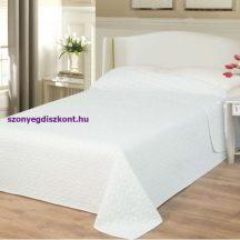 Ágytakaró Emily fehér kockás 235x250cm