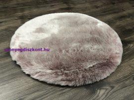 Luxus Shaggy Szőnyeg, Ob My Samba Púder Rózsaszín 80Cm Kör Szőnyeg-Nagyon Puha Szőnyeg