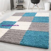 Ay life 1501 türkiz 80x150cm - kockás shaggy szőnyeg