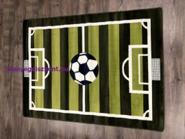 Futballpályás 133x180cm 627 sötétzöld/világos zöld gyerek szőnyeg
