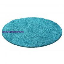 Ay life 1500 türkiz 120cm egyszínű kör shaggy szőnyeg