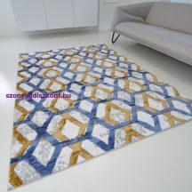 Modern szőnyeg akció, ZARIF 9960 kék-arany 160x220cm